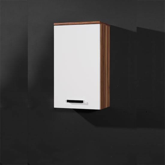 Elegance Baltimore Walnut White Bathroom Storage Cabinet