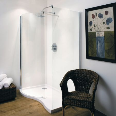 Cheapsuites 1350mm Walk In Shower Enclosure LH or RH