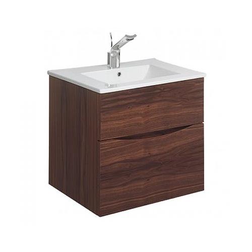 Bauhaus Glide II Walnut Vanity Unit 500 | Bathrooms Plus on walnut countertops, walnut fireplace, vintage walnut vanity, walnut vanity top, walnut chest, walnut sinks, euro vanity, walnut bedroom, walnut dresser, walnut windows, mahogany vanity, walnut room, walnut entertainment center,