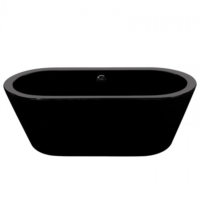 saratoga freestanding oval black bathtub bathrooms plus