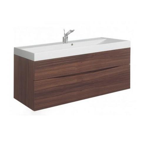 Walnut Vanity Units For Bathroom: Walnut Finish Wall Hung Vanity Unit