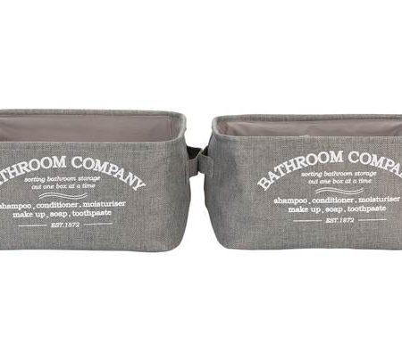 Collection Hessian Bathroom Storage Baskets - Grey