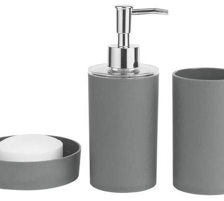 ColourMatch Bathroom Accessory Set - Flint Grey
