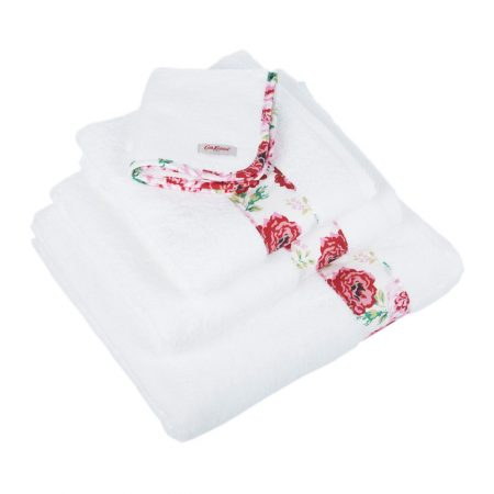 Cath Kidston - Antique Rose Band Towel - Bath Towel
