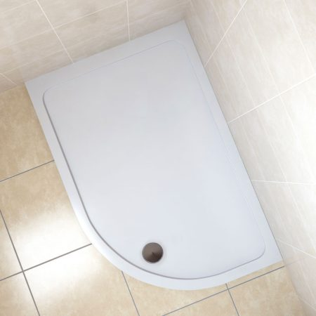 Offset Quadrant Stone Resin Shower Trays