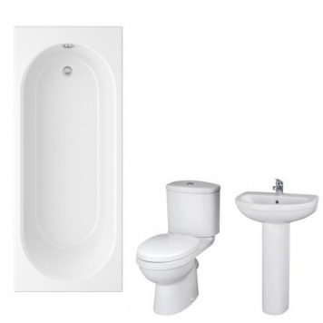 Cheapsuites Orta 1500mm Straight Standard Bathroom Suite