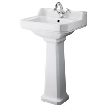 Cheapsuites Rowan 500mm Cloakroom 1TH Basin and Pedestal