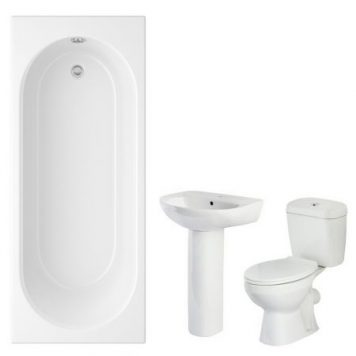 Cheapsuites Zurich 1700mm Straight Bathroom Suite